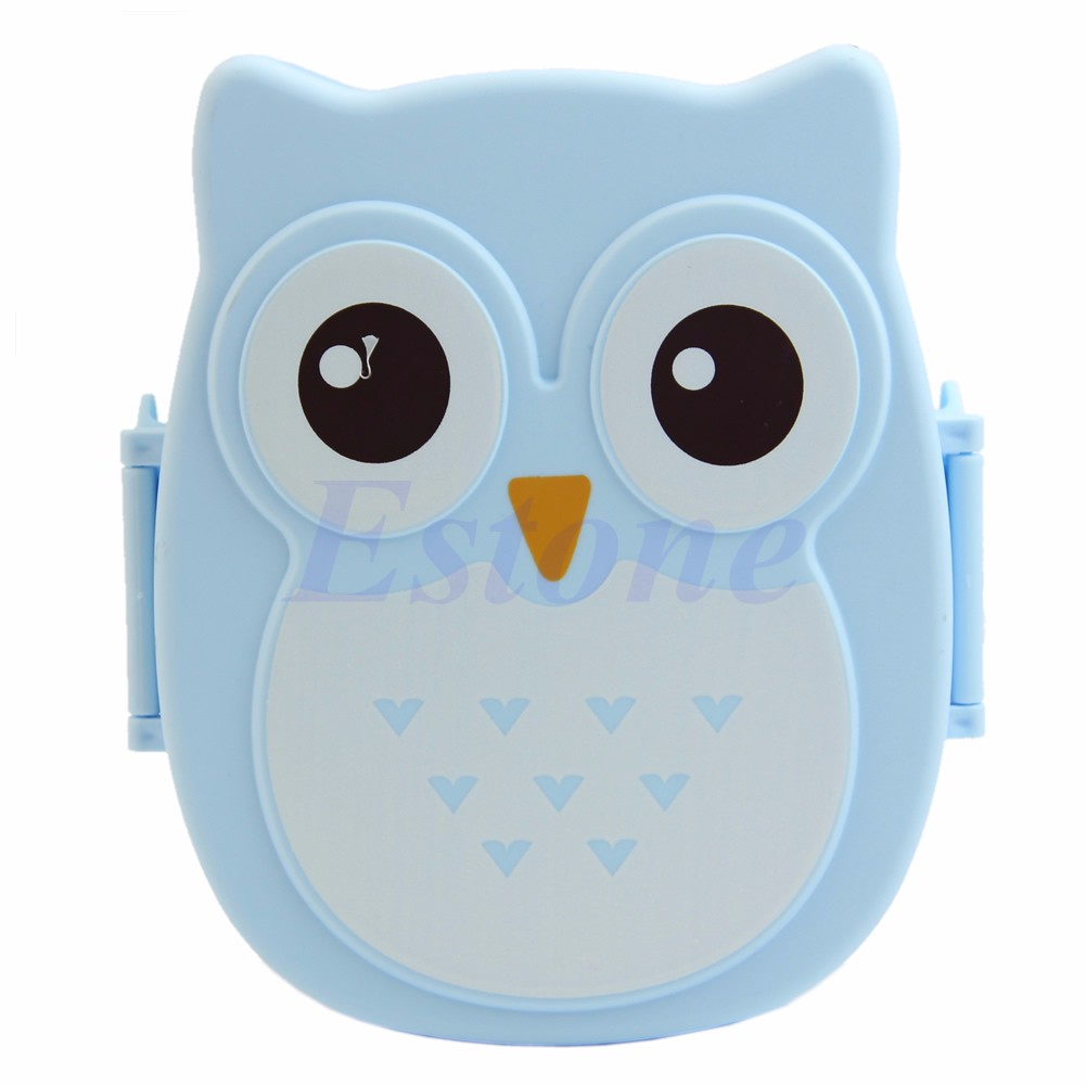 Cute Cartoon Owl Lunch Box Food Container Storage Box Portable Bento