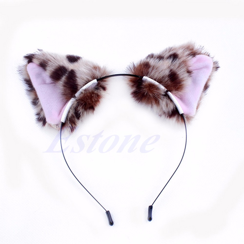Fashion Cute Girl S Cat Fox Ears Long Fur Hair Clasp Anime Cosplay