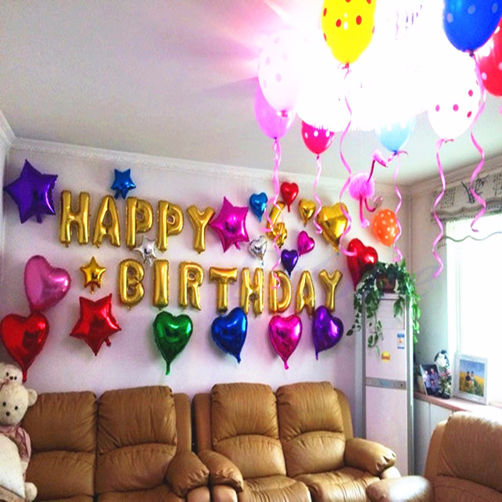 16 Foil Balloons Letters Words Phrases Happy Birthday Party