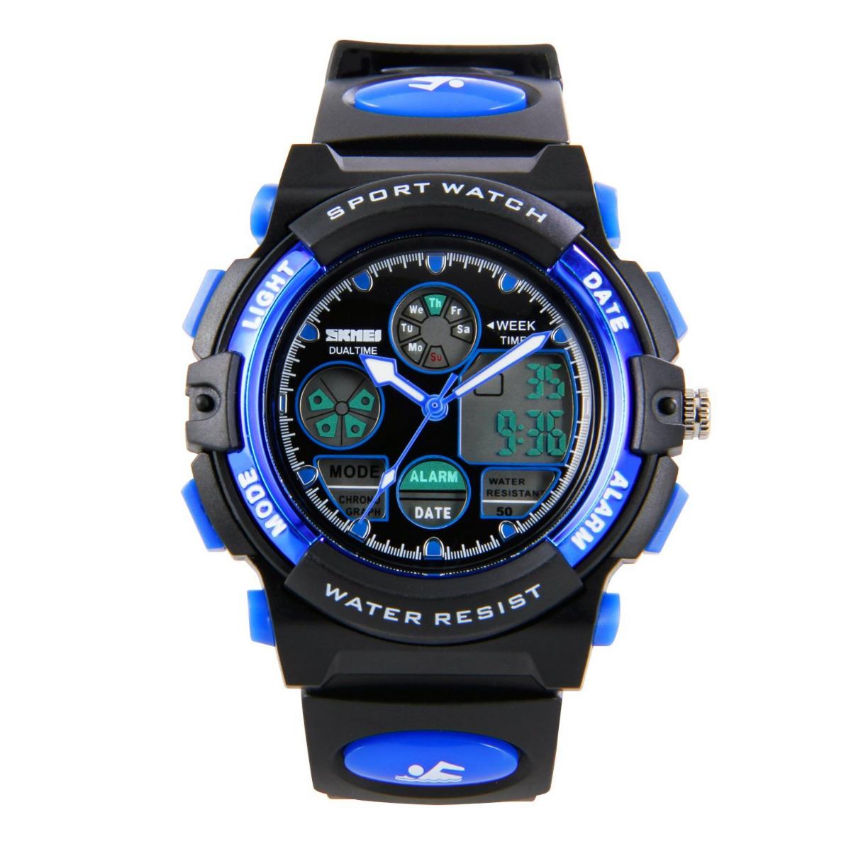 Boys kids watches Sport Digital Waterproof Wrist Watch For ...
