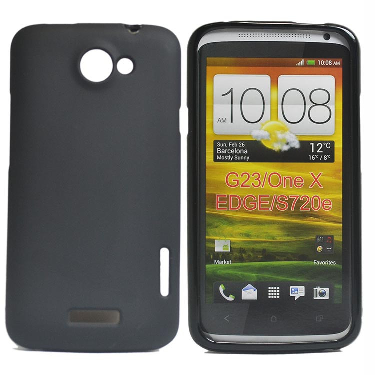 finest selection 0830a f5b98 Details about For HTC One X G23 New Black Matte TPU Gel Skin Case back cover