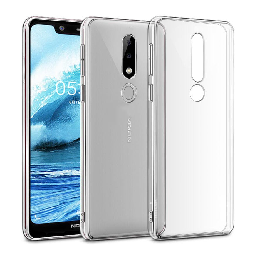 size 40 bb259 2f9d9 Details about For Nokia 6.1Plus Nokia X6 Full Covered Clear Transparent  hard case DIY cover