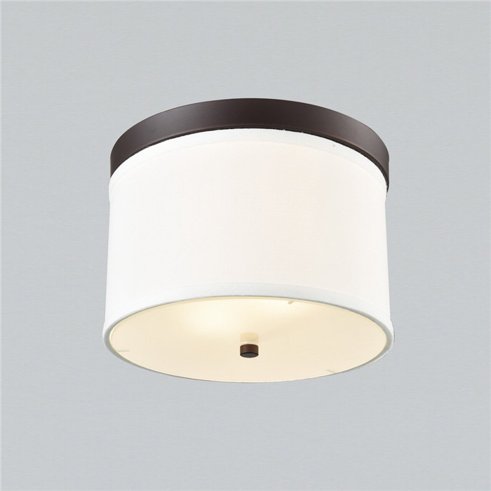 Modern drum shade white linen fabric flush mount ceiling light 2 1 2 lights linen drum shade ceiling light fixture white shade aloadofball Image collections