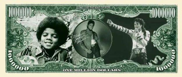 MICHAEL JACKSON TRIBUTE MILLION DOLLAR BILL | eBay