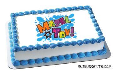 Mazel Tov Edible Image Icing Cake Topper
