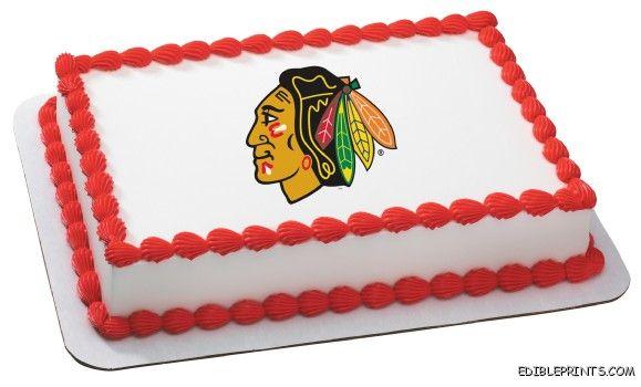 Chicago Blackhawks Edible Image Icing Cake Topper