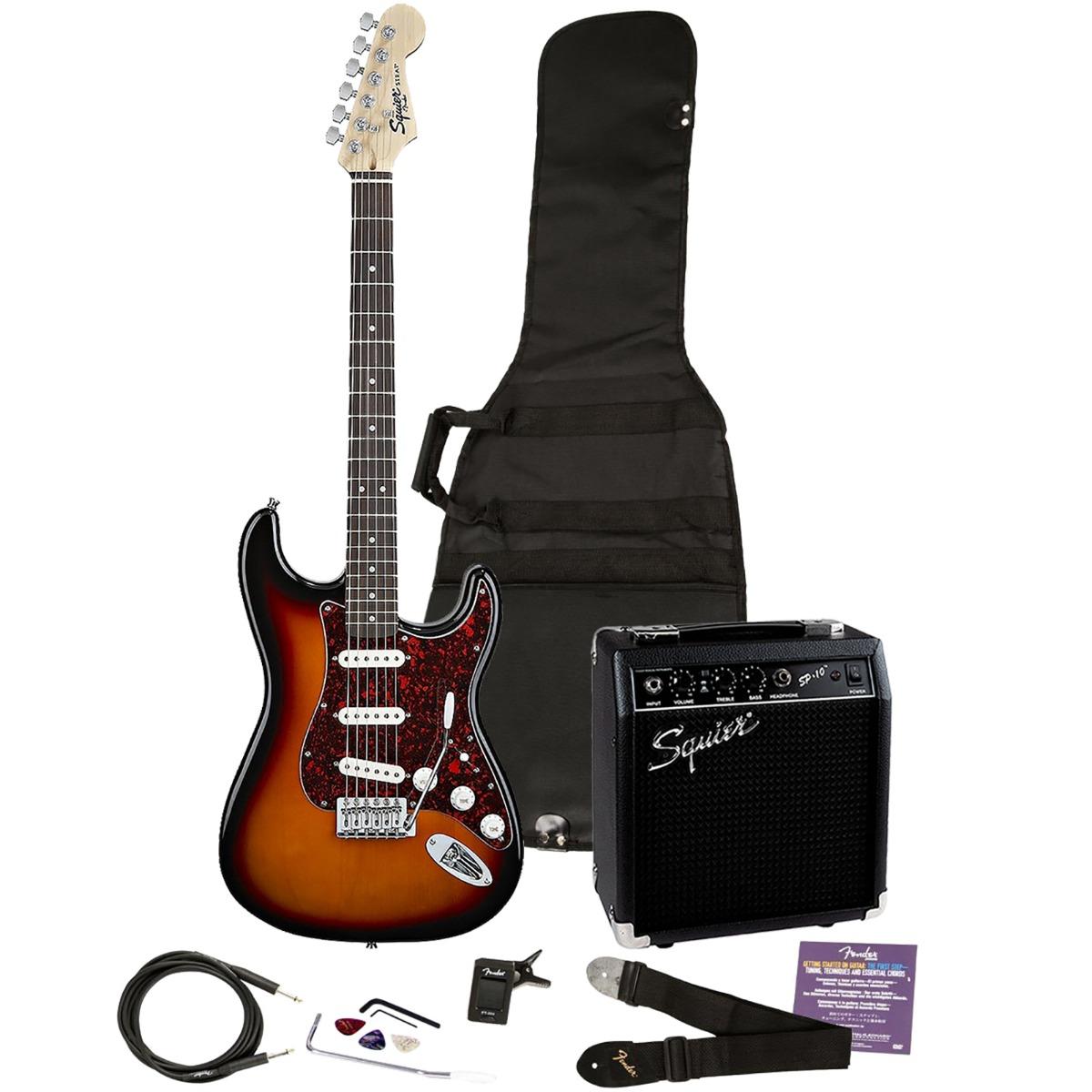 squier by fender se special electric guitar and amp starter pack brown sunburst ebay. Black Bedroom Furniture Sets. Home Design Ideas