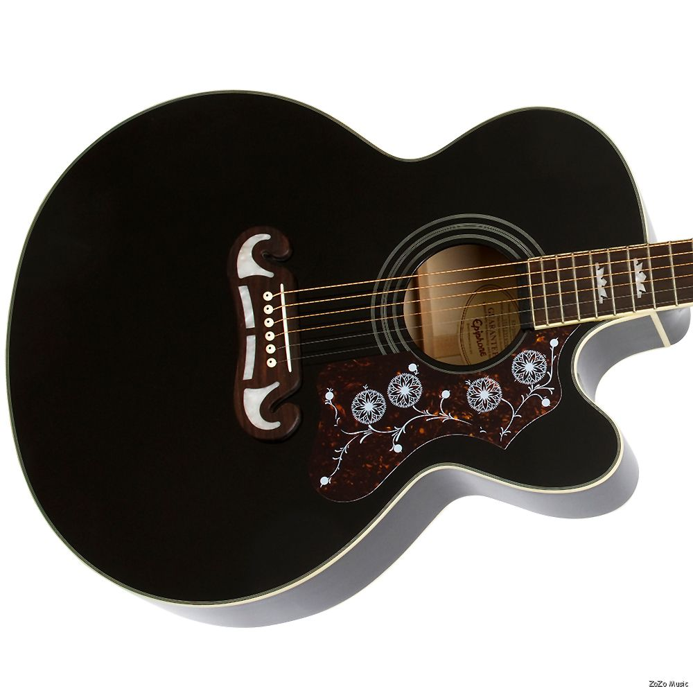gibson epiphone ej200ce black jumbo acoustic electric guitar free shipping ebay. Black Bedroom Furniture Sets. Home Design Ideas