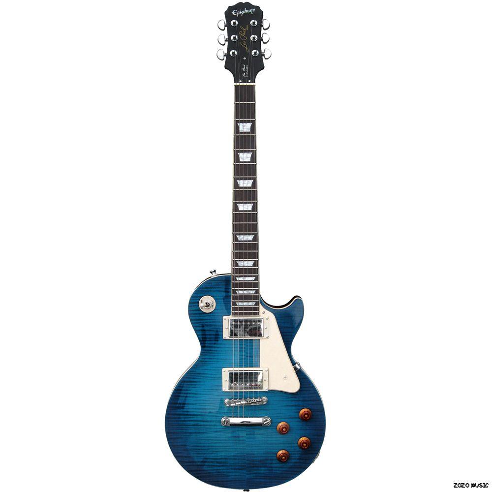 gibson epiphone lp les paul standard plus pro translucent blue electric guitar ebay. Black Bedroom Furniture Sets. Home Design Ideas