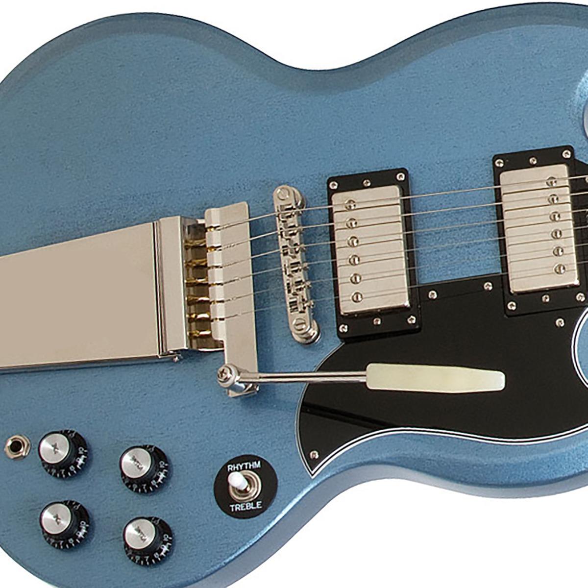 epiphone ltd ed sg custom electric guitar with maestro tremelo tv pelham blue ebay. Black Bedroom Furniture Sets. Home Design Ideas