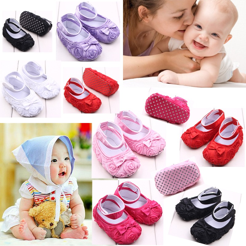 Newborn Baby Boy Girl Toddler Crib Shoes Soft Sole Prewalker Sneakers 0-12Moths