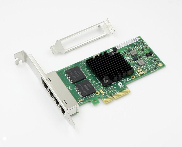 E1G44HT 82580EB PCI-E 4-Ports Network Server Adapter Card i340-T4 Nic AM