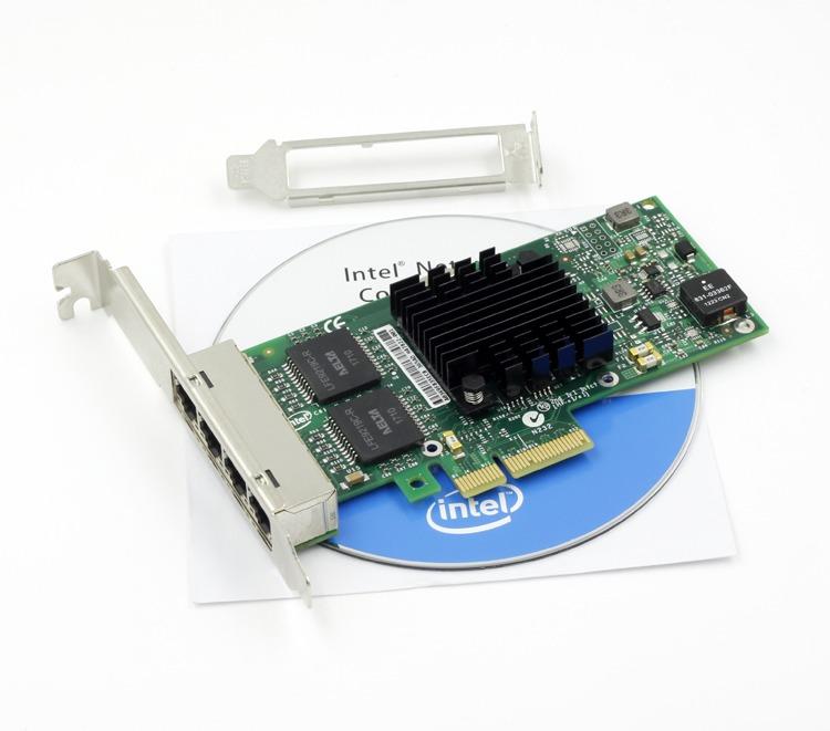INTEL i350T4V2BLK Gigabit Ethernet Network Server Adapter I350-T4 V2