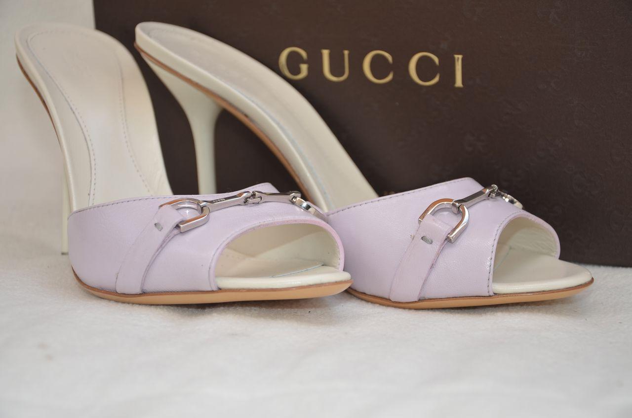 GUCCI SHOES sandals HEELS Slide Sandal Pink | eBay