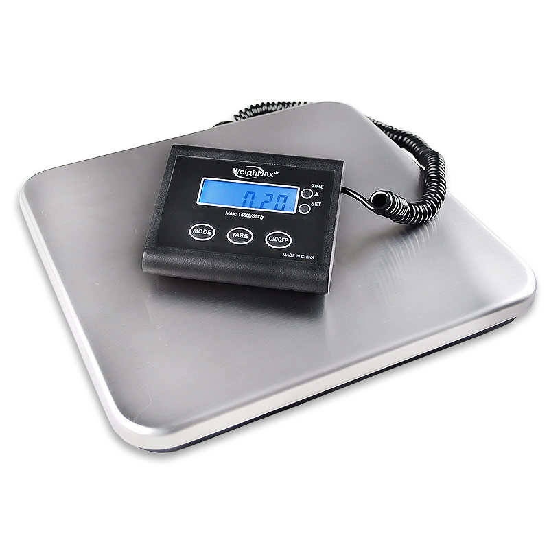 Weighmax 4830 heavy duty 330 lb digital shipping postal - How to calibrate a bathroom scale ...