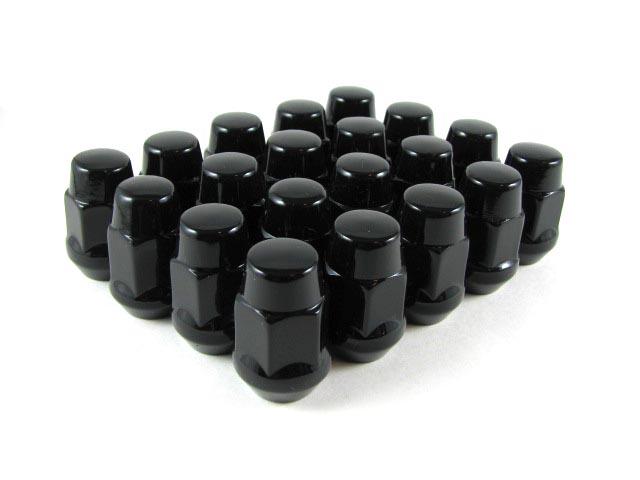 Lug Nuts Acorn 1//2 Lugs Nut 50 Pc Mustang Black