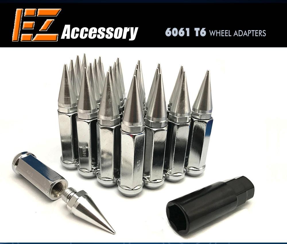 20 Pc Set Spline Tuner Lug Nuts ¦ 12x1.5 ¦ Chrome ¦ Chrysler Buick Cadillac