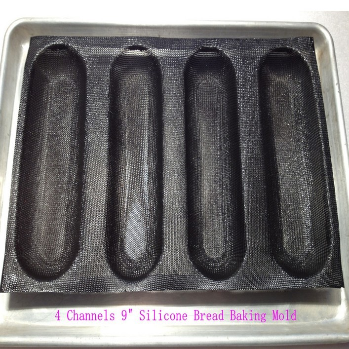 9 Quot Nonstick Perforated Baguette French Bread Loaf Tray Sub