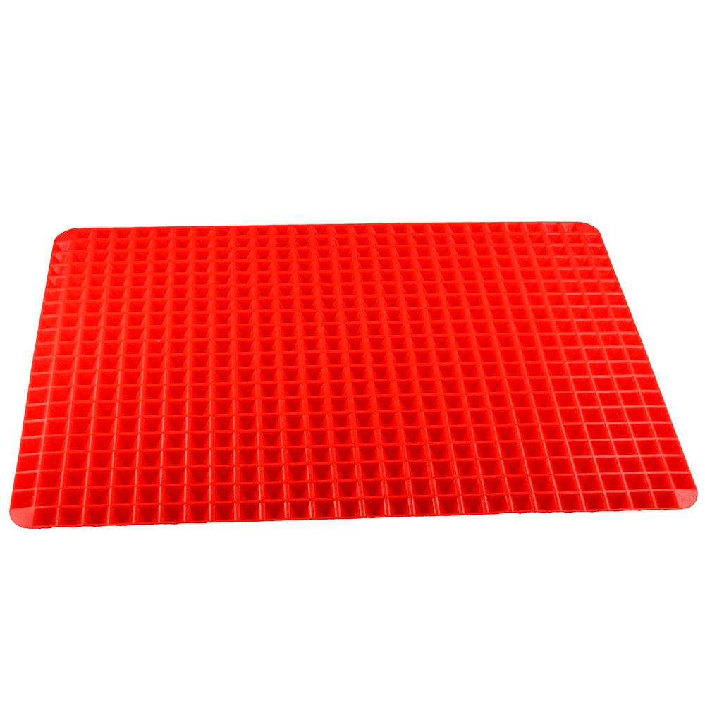 Red Pyramid Pan Nonstick Silicone Baking Mat Mould Cooking