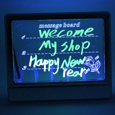 LED Illuminated Fluorescent Sign Neon Writing Memo Message