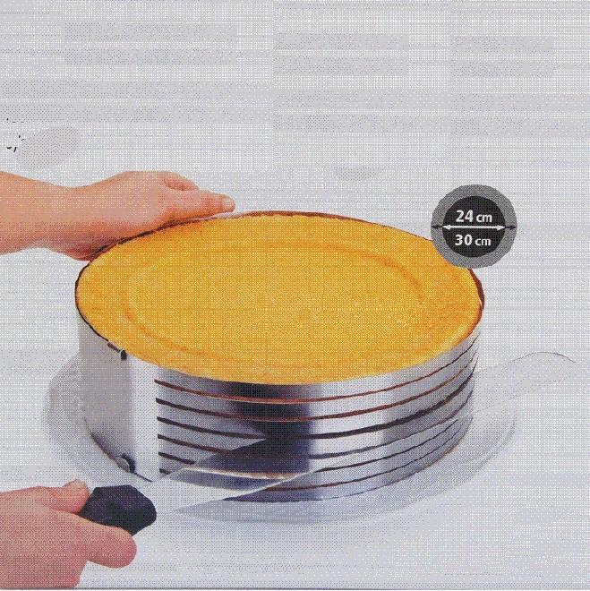 Stainless Steel Round Circle Cookie Fondant Cake Slicer