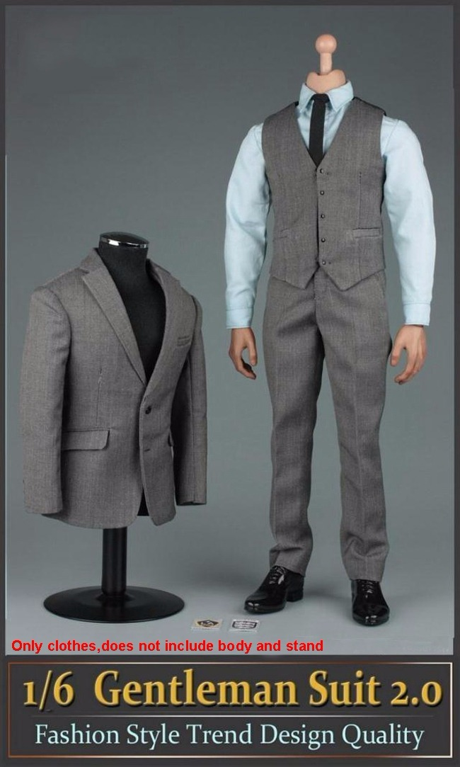 1//6 Male Clothing Set Waistcoat Suit Gentlemen Clothes Set for 12/'/' Figures