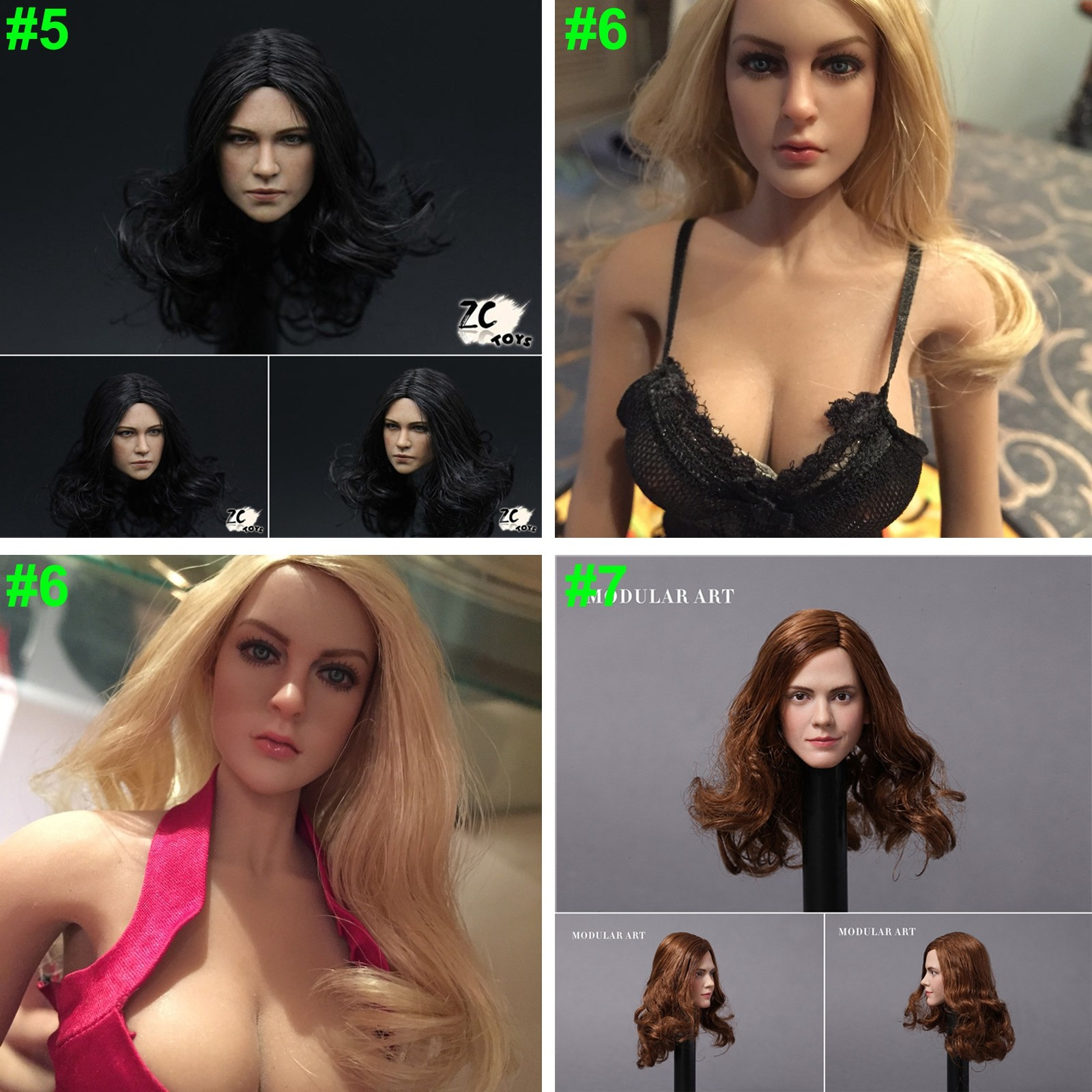 "In-Stock 1//6 Scale Famous Super Star Female Head For 12/"" Action Figure Body"