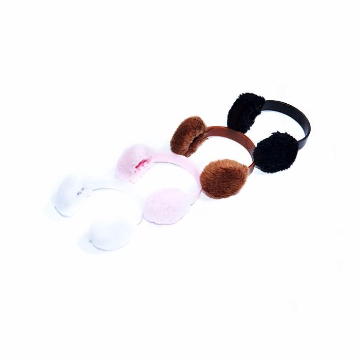 """1//6 Scale Women Girls Earmuffs Ear Warmers For 12/"""" Female Figure Body White"""