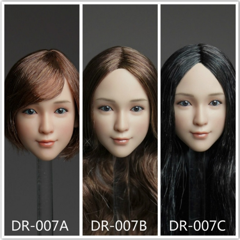 1//6 QI AN TOYS Female Head Carving DR-007 Asia Girl Head Sculpt F 12/'/' Figure