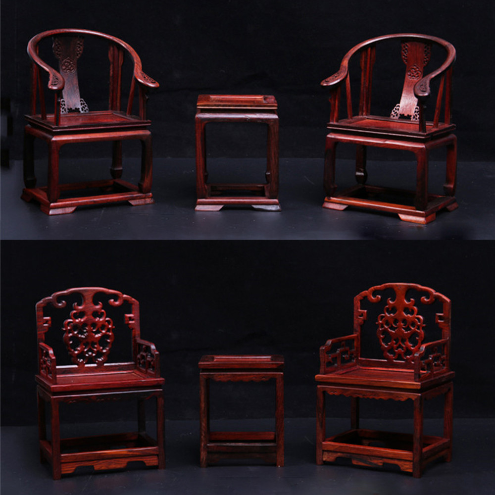 1//6 Scale Accessories Scene Furniture Chinese Style Wooden Tables And Chairs