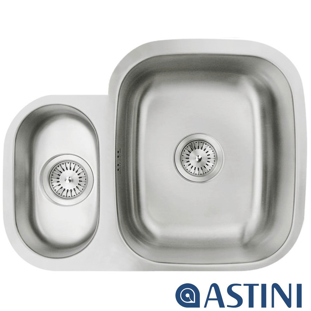 Astini Renzo 1.5 Bowl Brushed Stainless Steel Undermount Kitchen ...