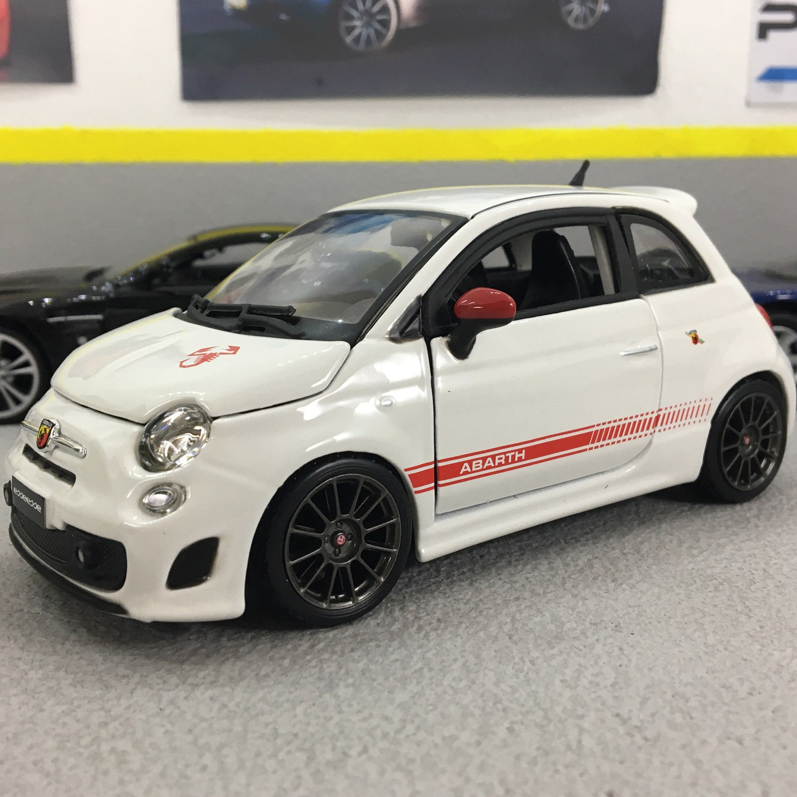 exclusive special i cast die customers scale ebay fiat itm abarth offer arbath car pitwalk white esseesse model to