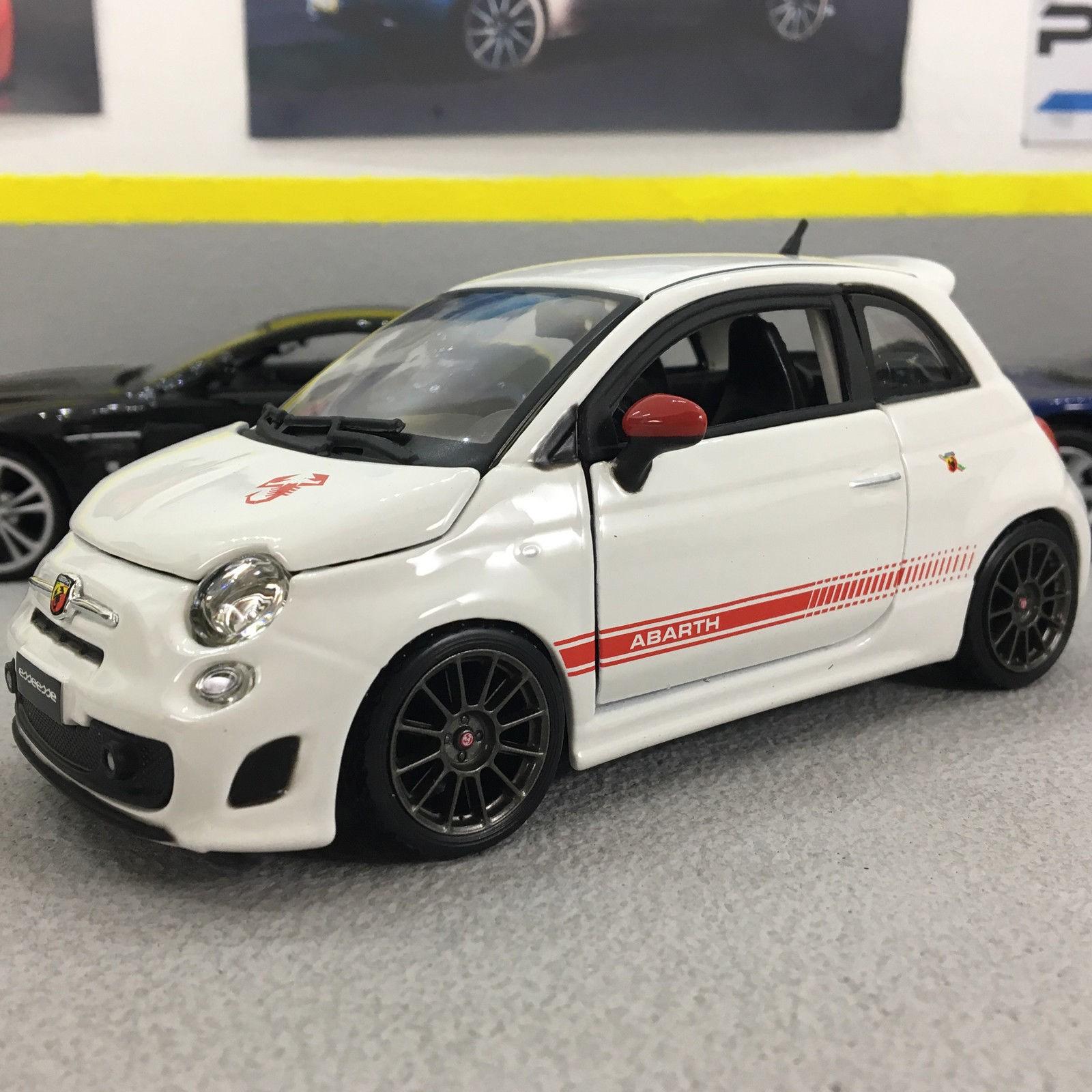 Fiat Abarth 500 Esseesse White 1:24 Scale -cast Model Car | eBay