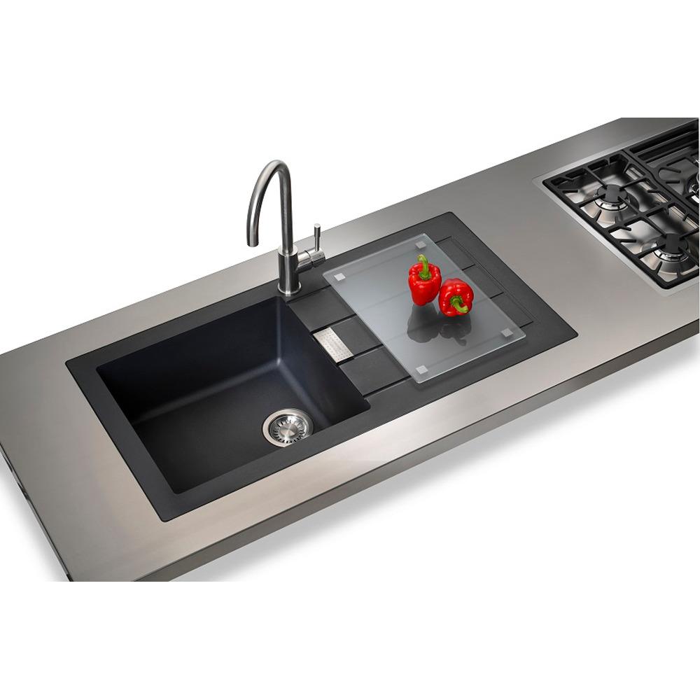 Details About Franke Sirius 1 0 Bowl Black Tectonite Kitchen Sink Waste Grade B Item