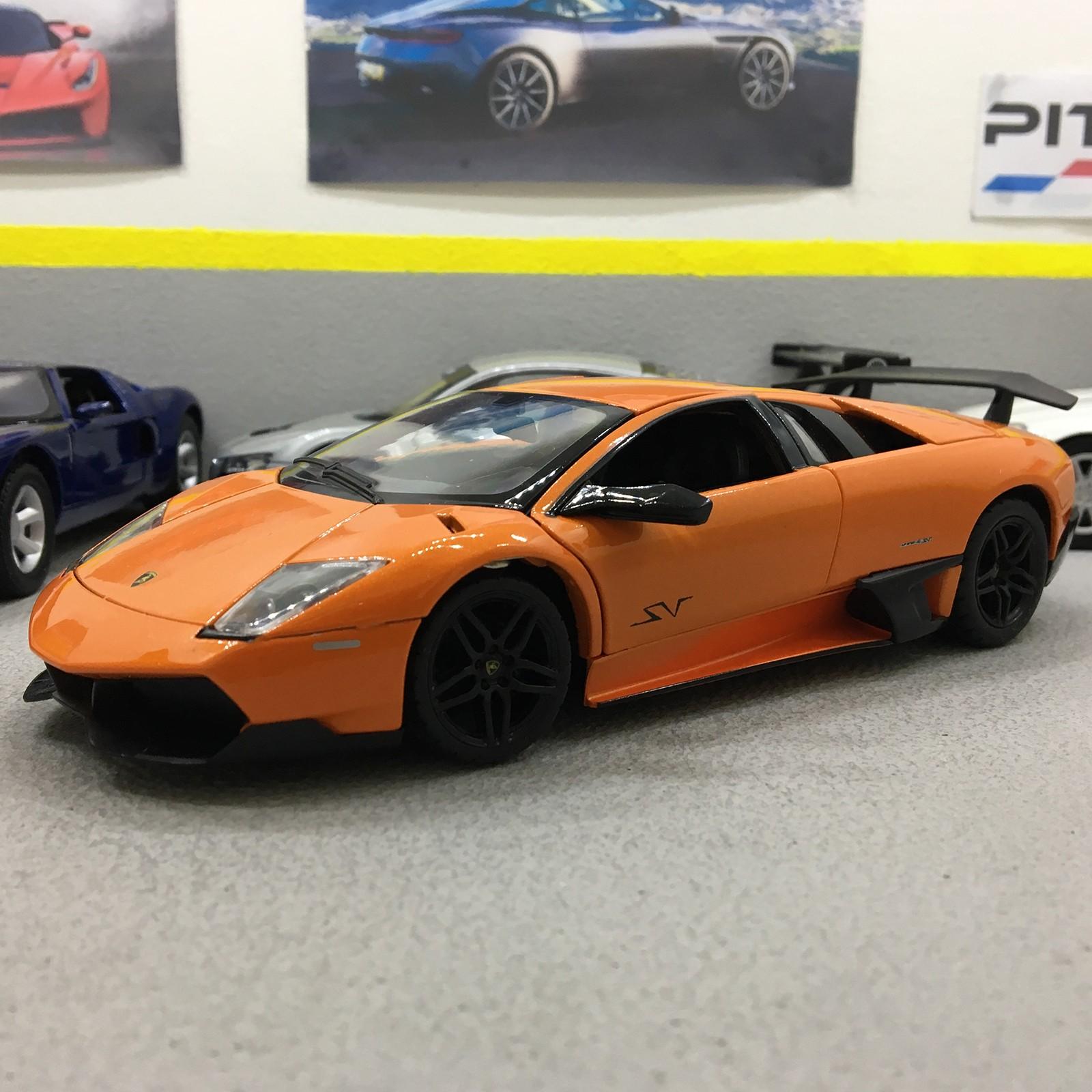 Murcielago Lp670 4 Sv Orange 1 24 Scale Die Cast Model Car
