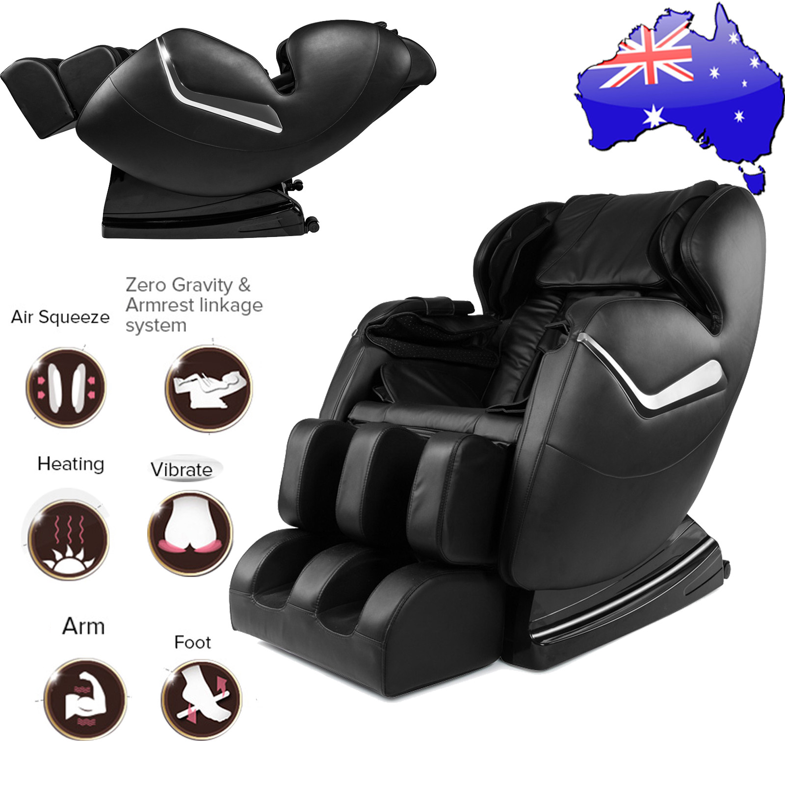 AU Genuine Real Relax Full Body Massage Chair Recliner ZERO