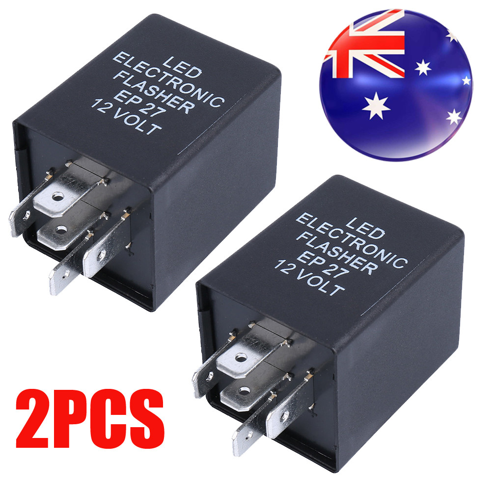 2X 12V 5 Pin LED Flasher Relay Unit For Car Turn Signal Indicator ...