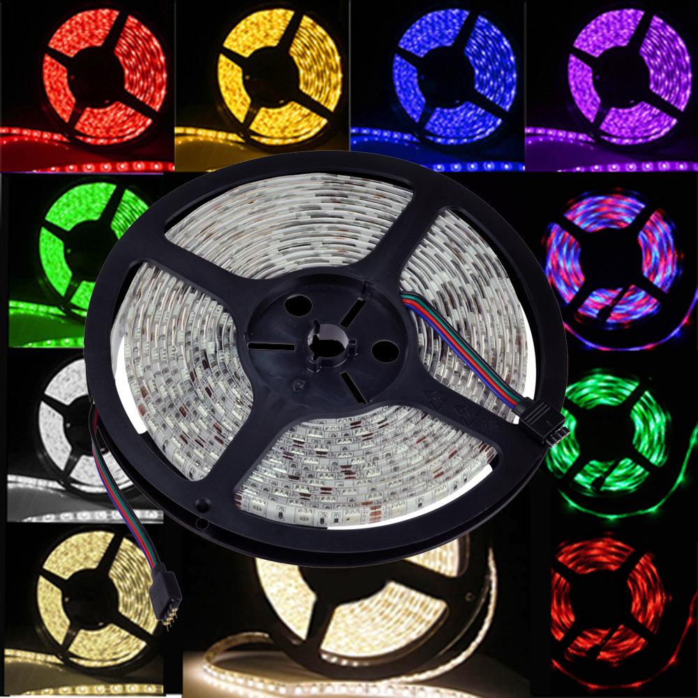 Waterproof /Non RGB 5M 5050 150/300 SMD LED Strip Light 12V & IR ...