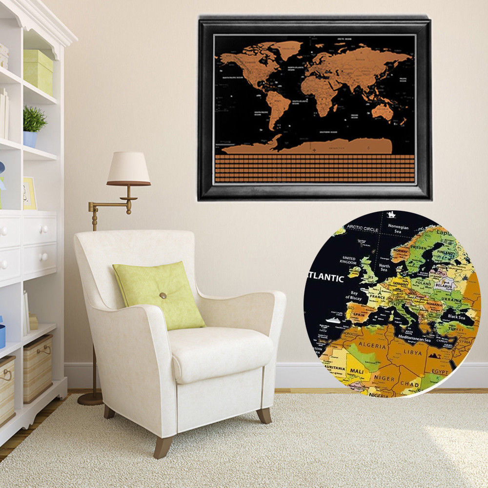 Travel tracker big scratch off world map poster with australia 1 x world map gumiabroncs Choice Image