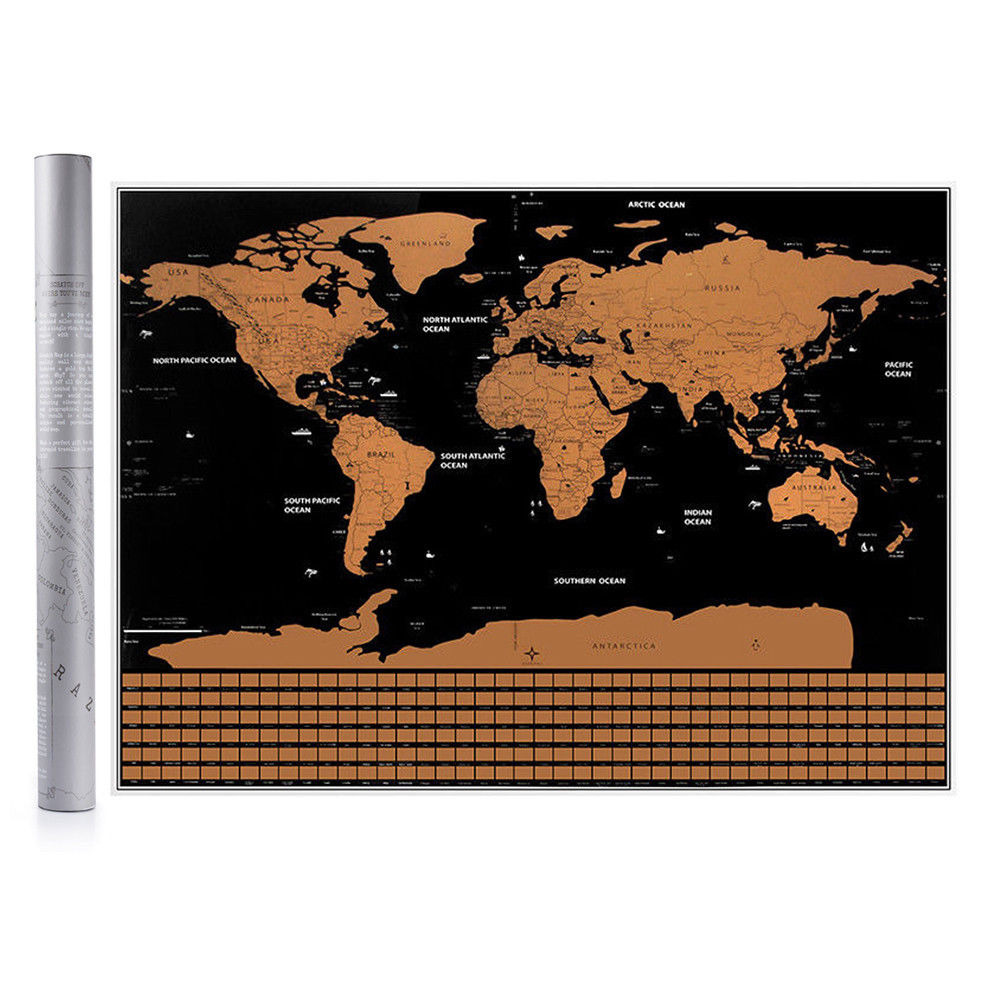 Travel tracker big scratch off world map poster with australia flags travel tracker big scratch off world map poster with australia flags au stock gumiabroncs Image collections