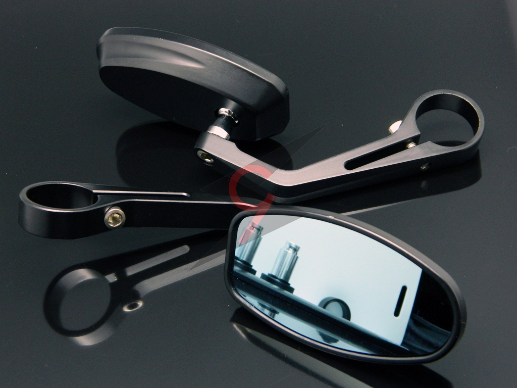 Aluminum Black Handle Bar End Mirrors For Bwn Buell Ducati