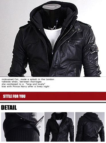 a650ea92d0e Cheap online clothing stores » Leather jackets for men with hood