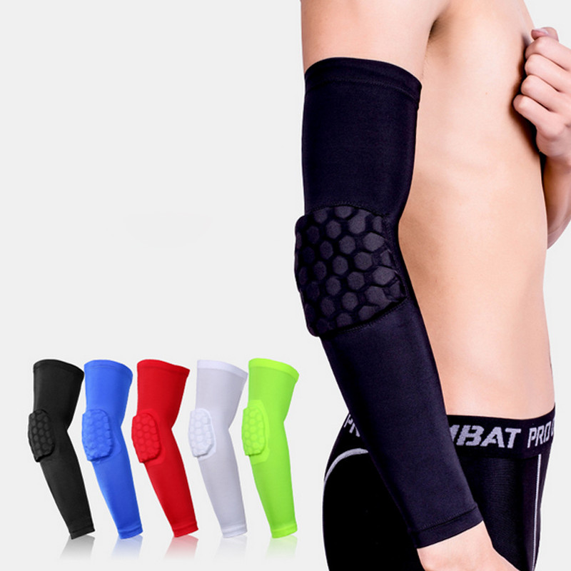 Basketball Sports Crashproof Arm Sleeve Pad Elbow Protective Gear Brace Support