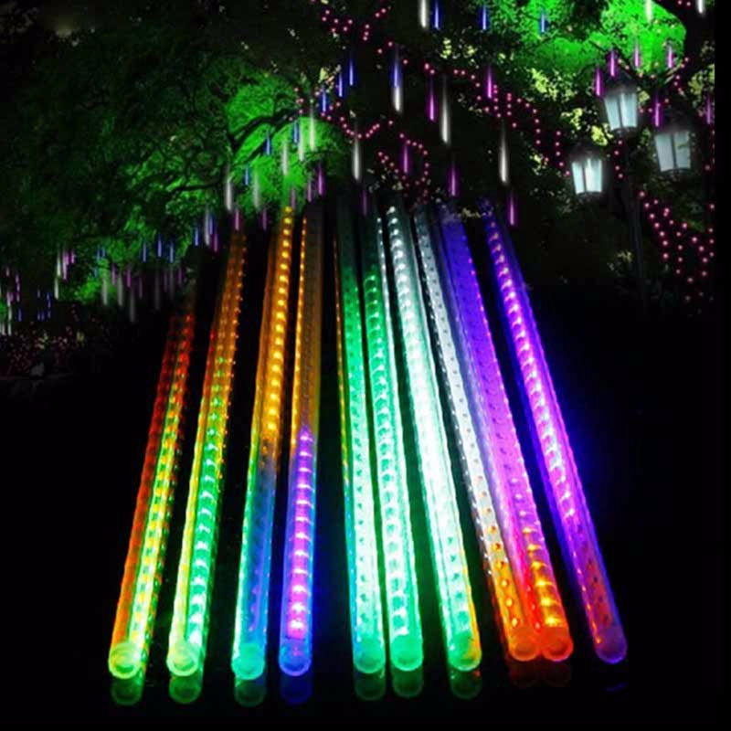 Meteor Shower Rain Led String Lights Snow Falling For Wedding Party Xmas Decor Ebay