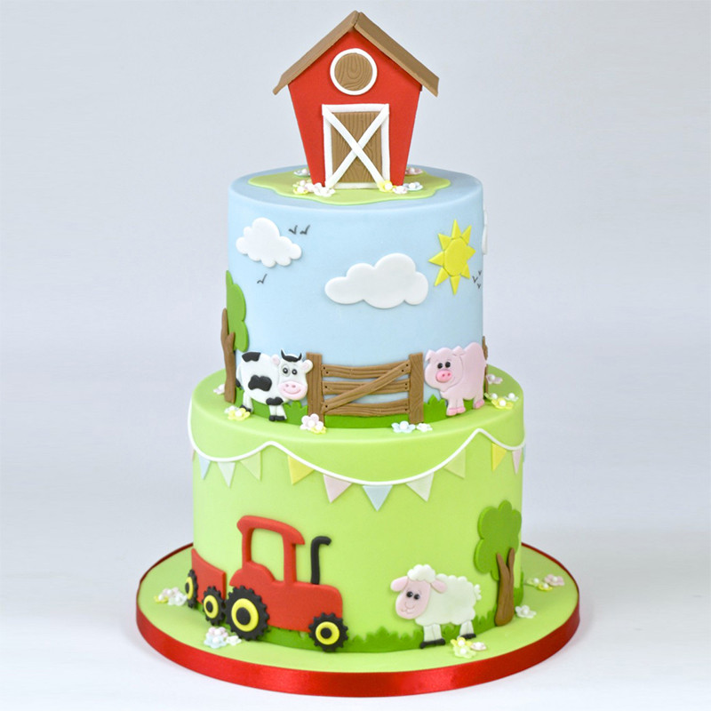 Swell Cake Fondant Baking Mold Cookie Cutter Farm Animal Mould Plastic Funny Birthday Cards Online Hendilapandamsfinfo
