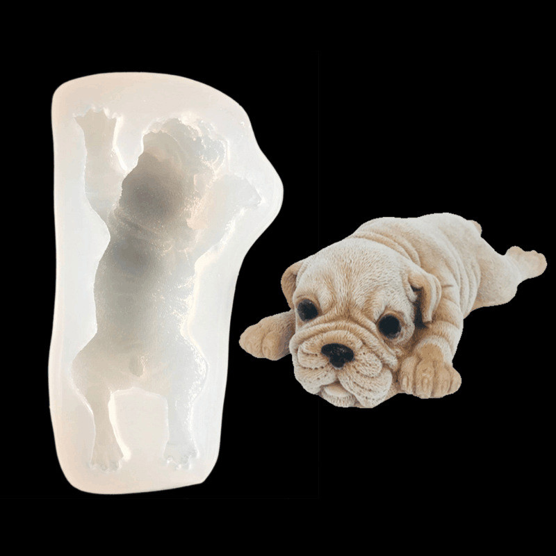 Shar Pei Dog Silicone Mold Fondant Cake Sugar Decoration Mould DIY Tools A737