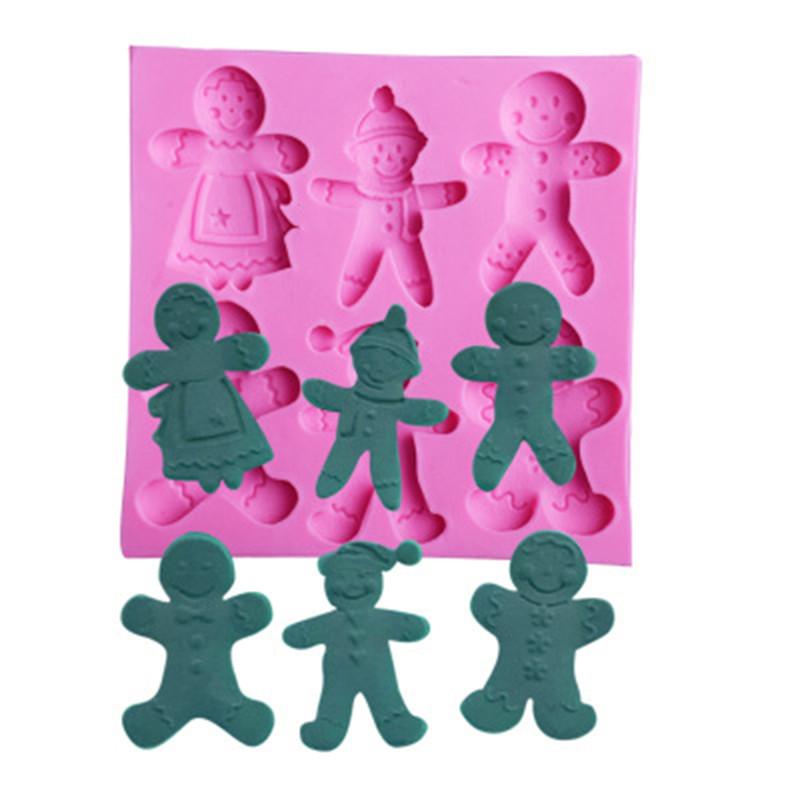 Leoie Christmas Gingerbread House Shape Silicone Mold for Fondant Cake Chocolate Decorating Tool