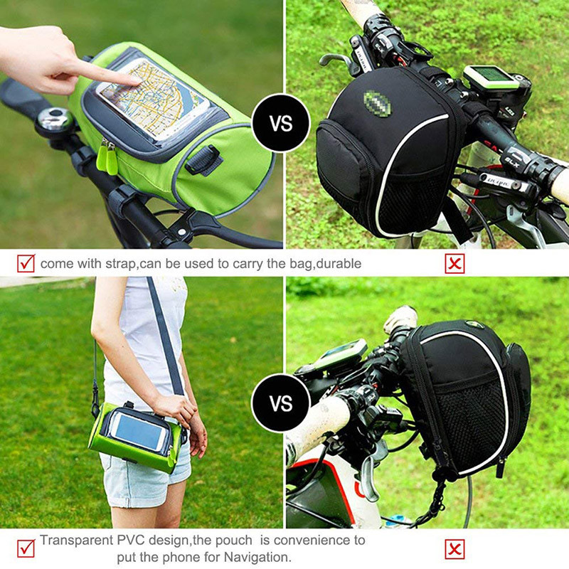Bicycle Cycling Bike Front Handlebar Bag Basket Transparent Pouch Cool A592 Sporting Goods Bicycle Bags Panniers Romeinformation It