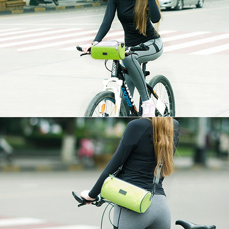 Bicycle Cycling Bike Front Handlebar Bag Basket Transparent Pouch Cool A592