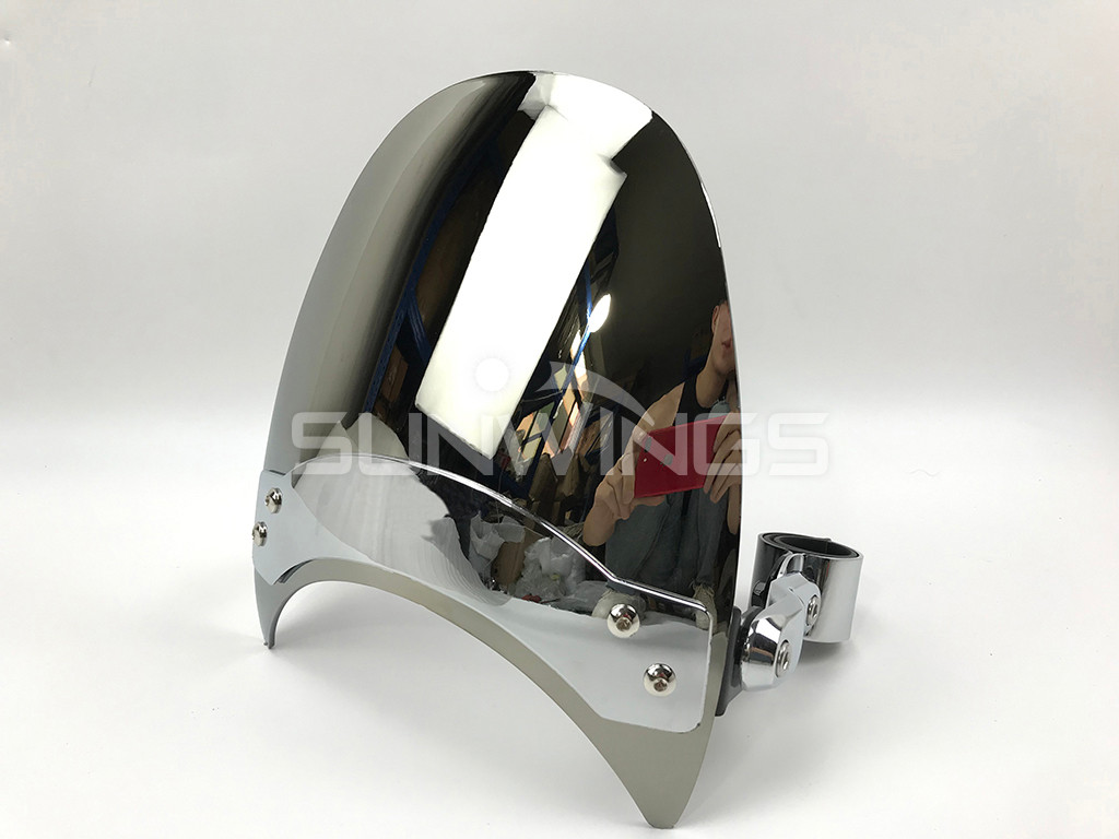 Small Windscreen Windshield For Harley Dyna Softail Sportster 883 1200 XL